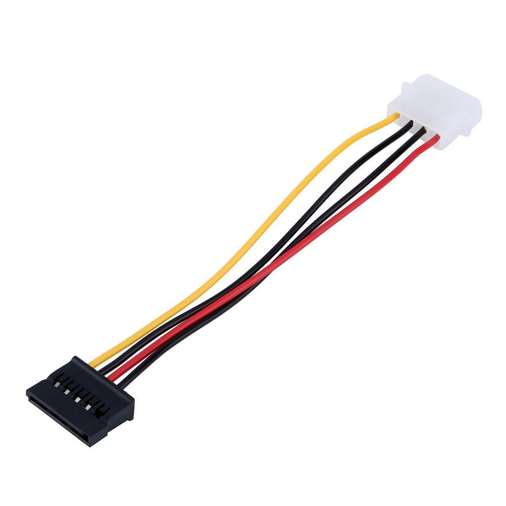1pcs Serial Ata Sata 4 Pin Ide Molex To 15 Hdd Power Adapter Male Wire Harness Cable Hard Drive Female Free Shipping