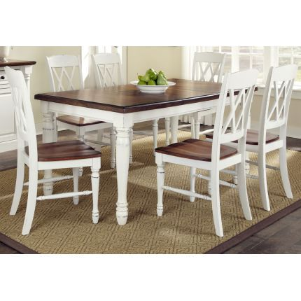 Monarch White Oak 7 Piece Dining Set White Dining Table Kitchen Dining Sets Kitchen Dining Room
