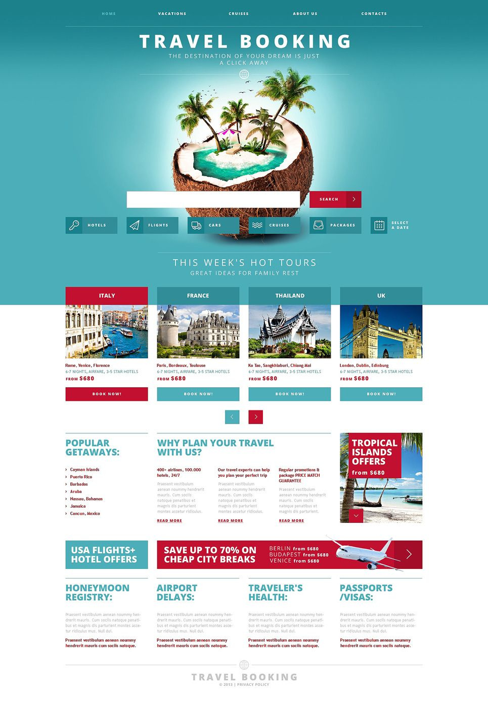 Travel Agency Responsive Website Template New Screenshots