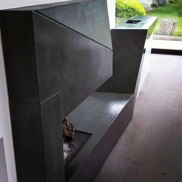 Camino piano cottura lavabo