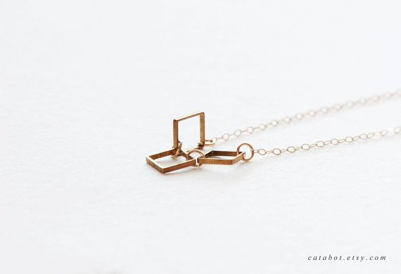 Ravel  Delicate Raw Brass Square 14kt Gold Filled Chain by catabot, $24.00