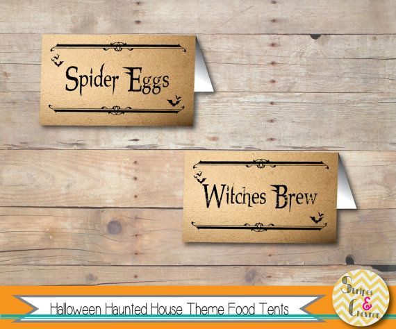 free halloween food tags