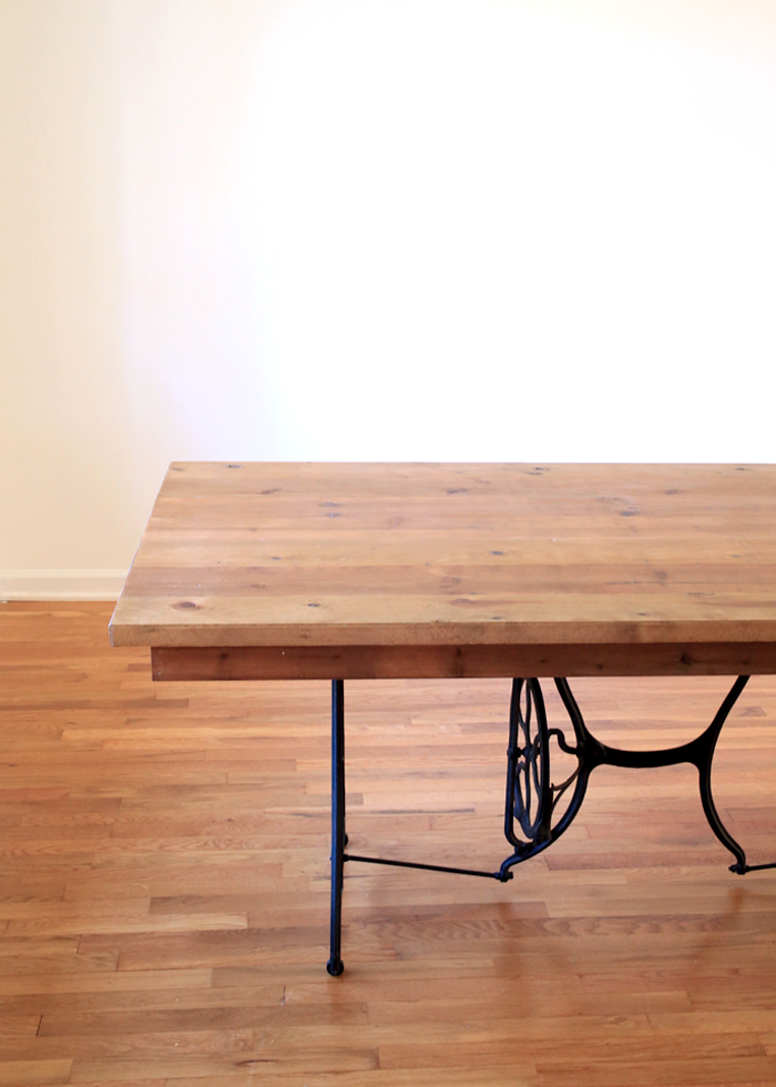 Dining Room Table Made From Old Singer Sewing Machine