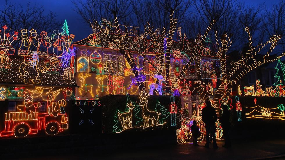 festive christmas lights adorn a detached house in a suburban street december 5 2009 in melksham england getty images file