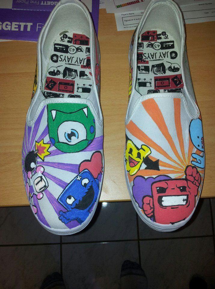 99e21e03e95db My own custom designed canvas shoes. Using Posca acrylic paint pens ...