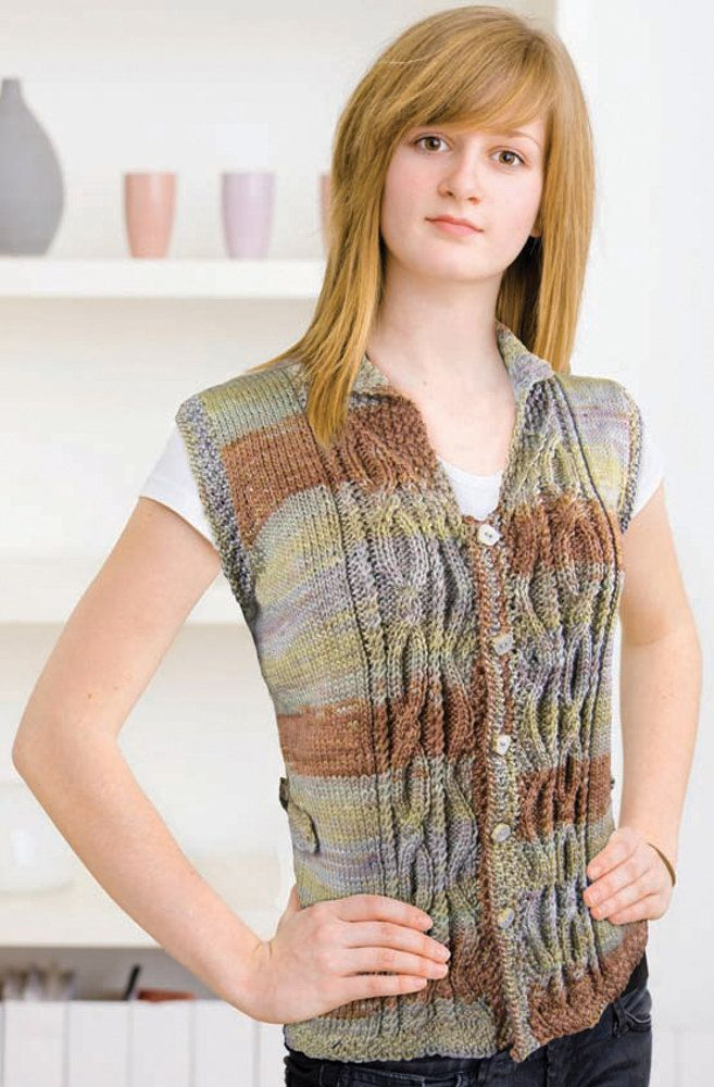 Ty Dy Aran Vest In Knit One Crochet Too Ty Dy Wool 1834 Discover