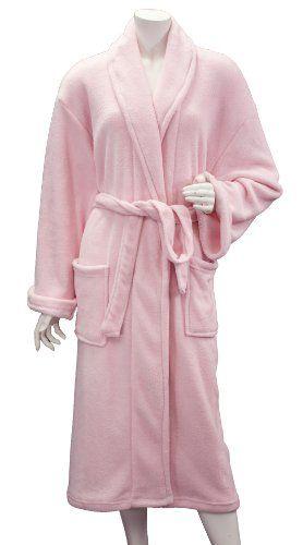 3270b9ae41 Leisureland Women s Coral Fleece Spa Bathrobe Robes 48
