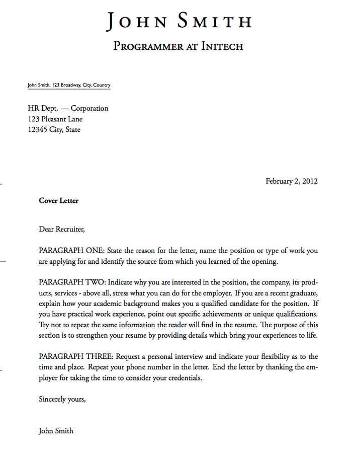 cover letter template for banking position