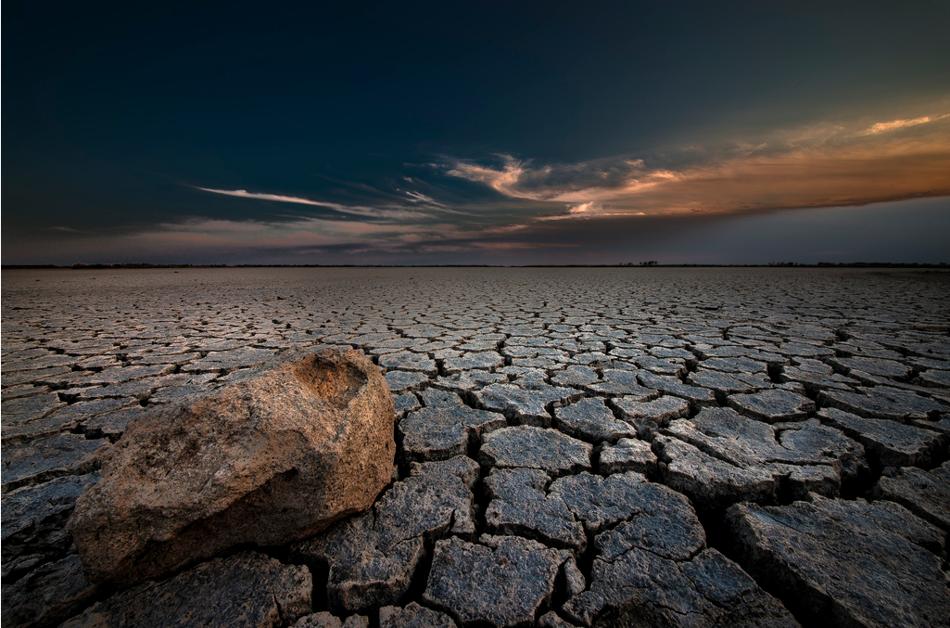 Dry lake, Kansas. (Photo by Garrett Gabriel on Flickr.)