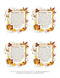 We are Thankful: Thanksgiving Blessings Mix Recipe | Organized Christmas