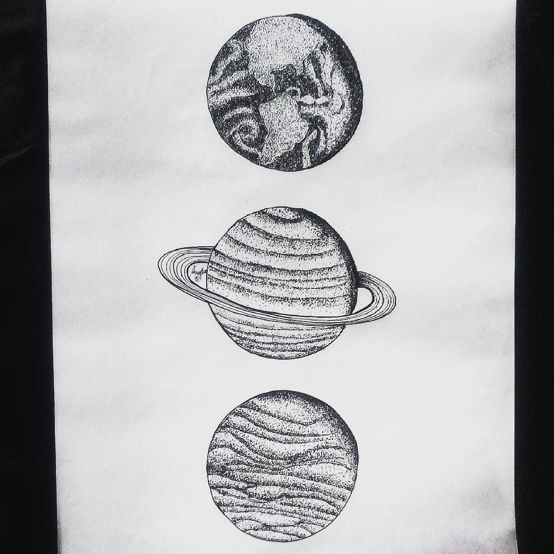 galaxy and planets sketch - photo #29