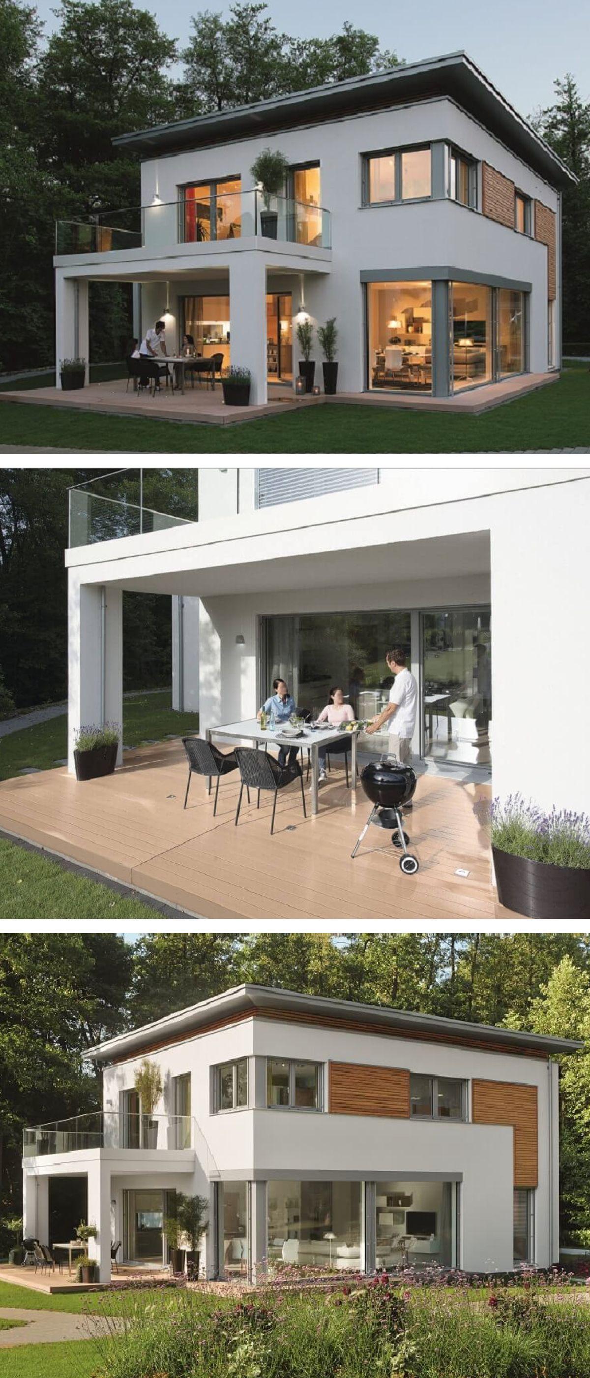 Einfamilienhaus Modern Mit Flachdach Architektur Pergola