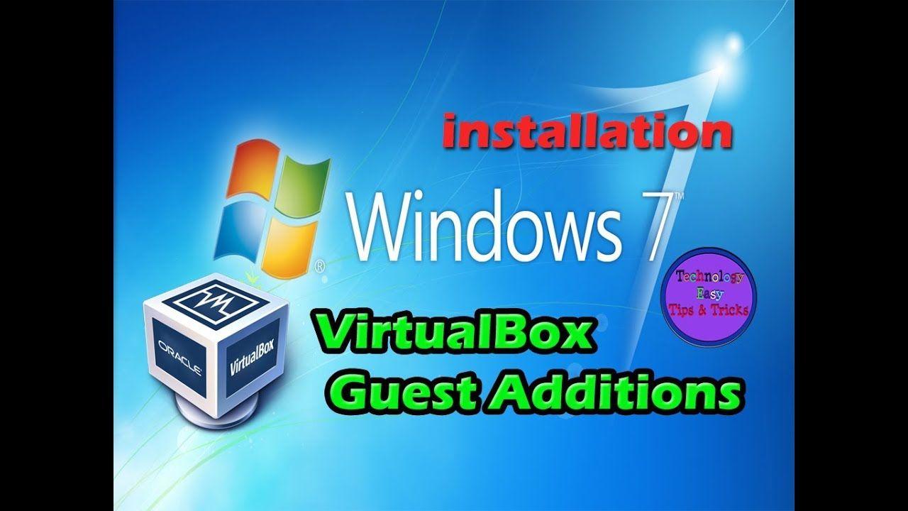 virtualbox guest additions windows 7