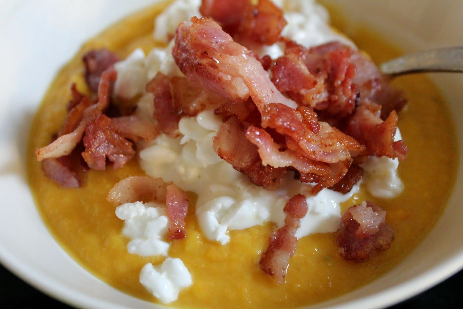 Paleostyle butternut squash soup and bacon <3