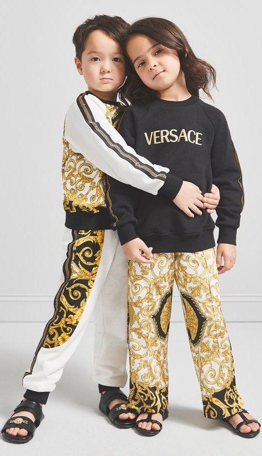 9ee20330beb0 Young Versace White Baroque Tracksuit   Black Logo Sweatshirt ...