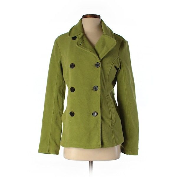 Pre-owned Lands' End Coat Size 0: Light Green Women's Jackets &... ($20) ❤ liked on Polyvore featuring outerwear, coats, light green, lands end coats, lands' end and green coat