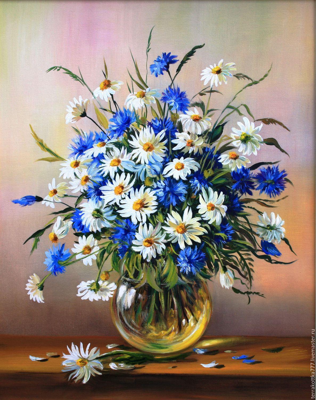корзина полевых цветов   Купить Цветы полевые ...