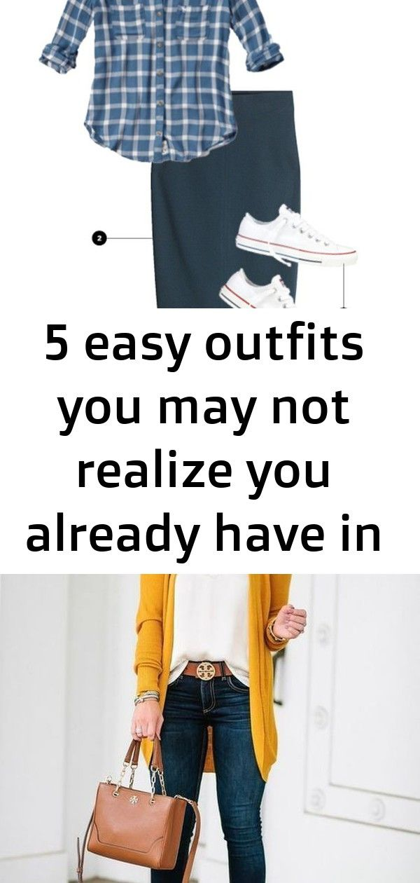 5 easy outfits you may not realize you already have in your closet 3 Plaid Shirt  Pencil Skirt  Converse 44 How To Wear To Wear Today Work Fall  Outfits For Life