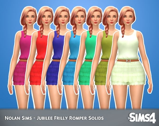 Jubilee Frilly Romper Solids 1.0 by Nolan Sims at SimsWorkshop • Sims 4 Updates