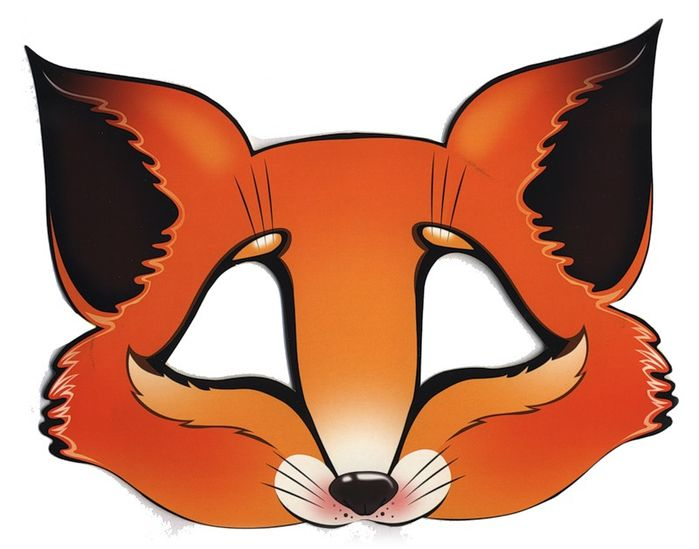 Fox Mask Printable Template