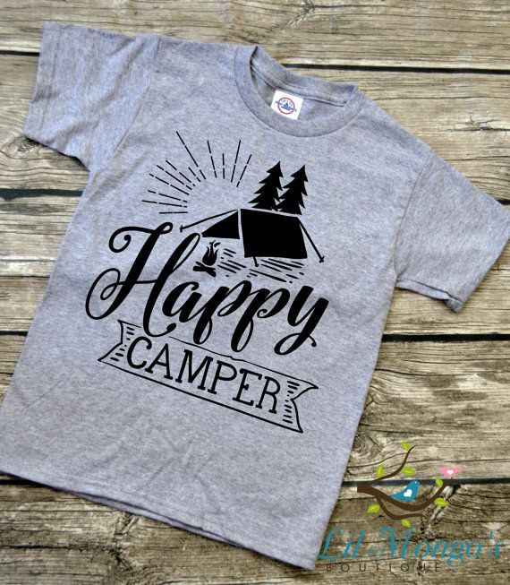 4e7a0c7f6 Camping Is My Favorite Sport Youth Vinyl Graphic Tee T-Shirt Unisex ...