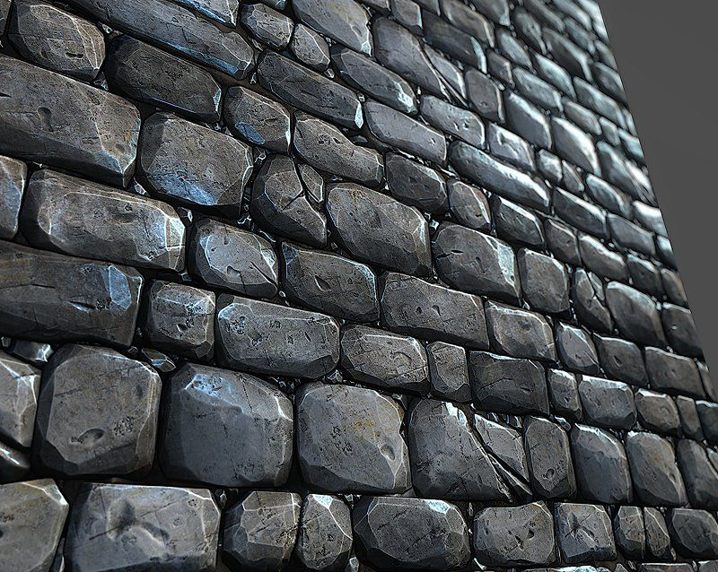 Stone Wall Tile 01 Height Maps Ao Gloss Apple Game For
