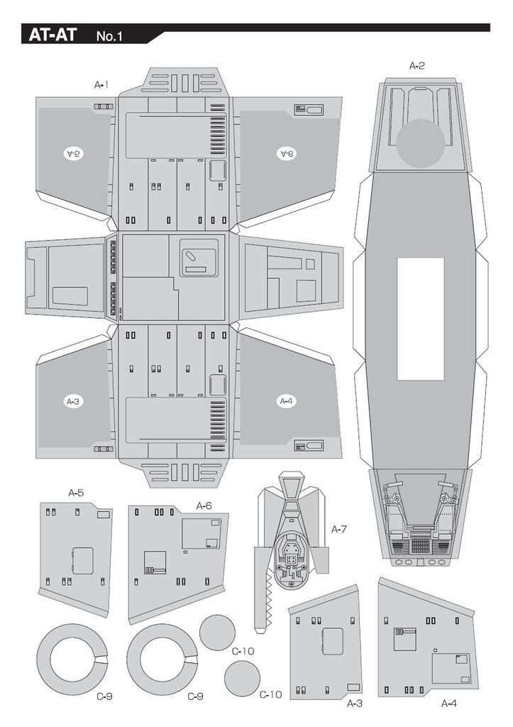 star wars papercraft templates pictures to pin on pinterest pinsdaddy. Black Bedroom Furniture Sets. Home Design Ideas