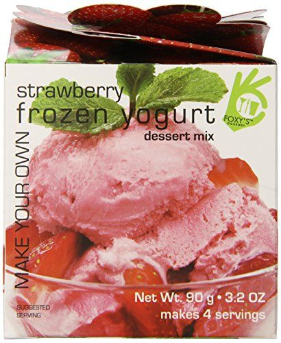 Price: $18.31 - http://bit.ly/2eb6V6X - Foxy Gourmet Strawberry Make Your Own Frozen Yogurt, 3.2-Ounce Boxes (Pack of 3) - MSG fre; No trans-fat; No artificial sweetener No artificial color; No preservatives Made in nut free facility