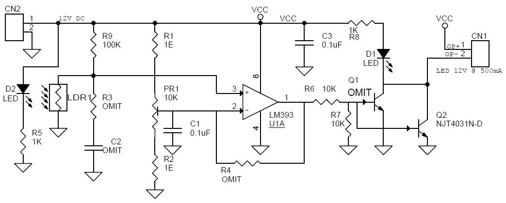 dark light sensor circuit