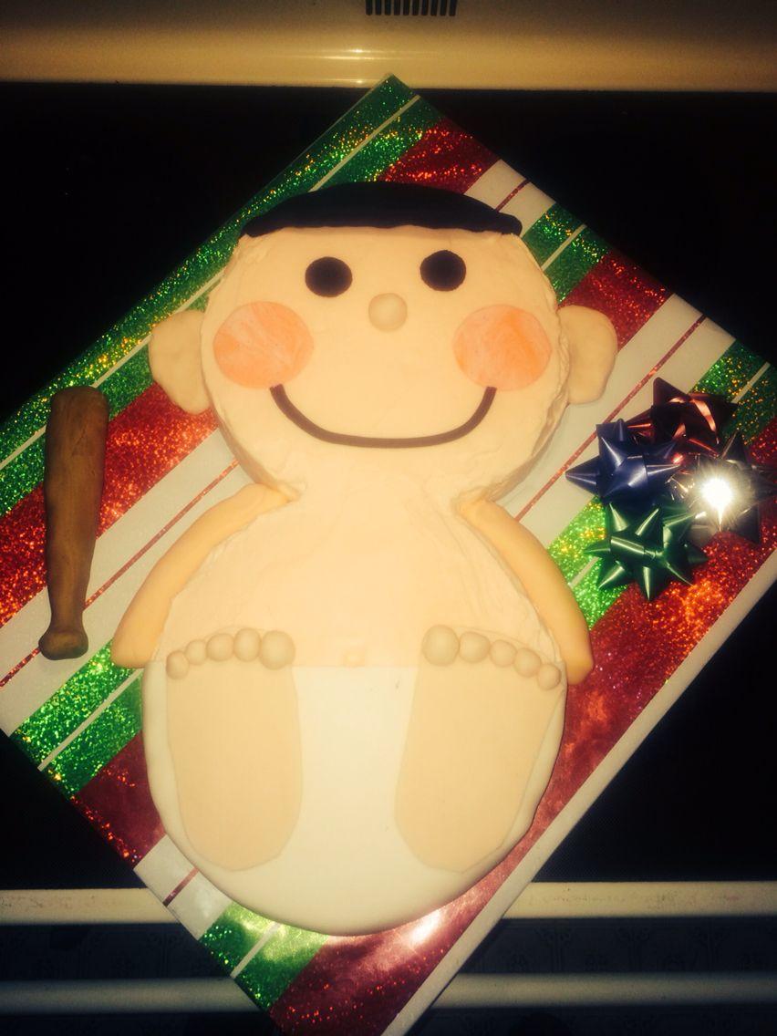 Baby shower cake for boy.