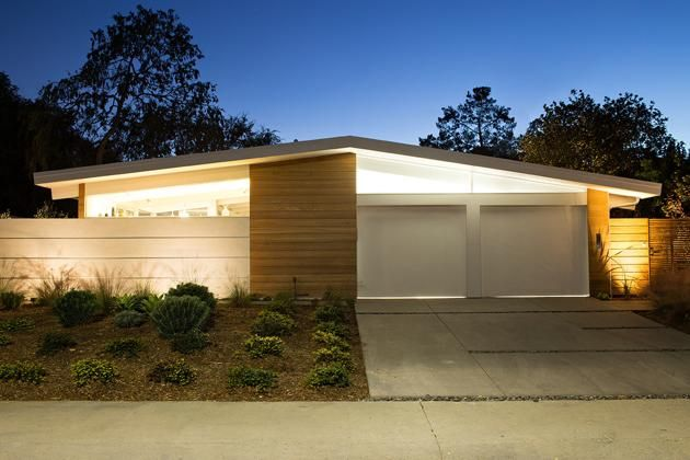 5 Night-Time Views of Mid Century Modern Homes | Architecture ...