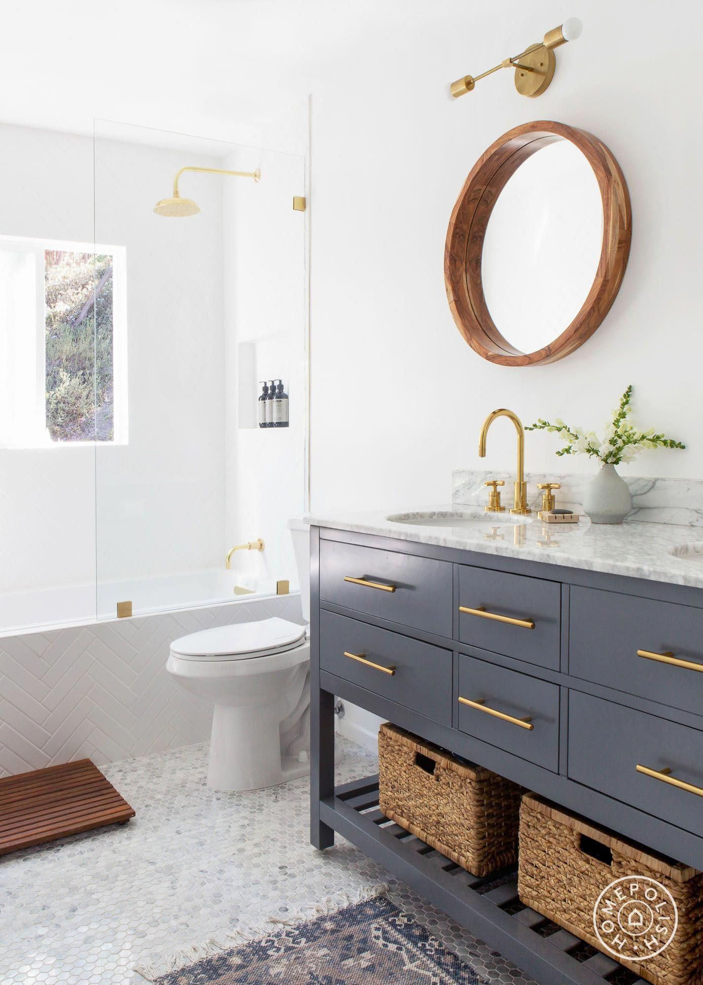 Modern relaxed bathroom style by homepolish designer kaitlin thomas