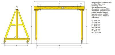 Mobile Gantry Crane Drawing: Can you help me with my build