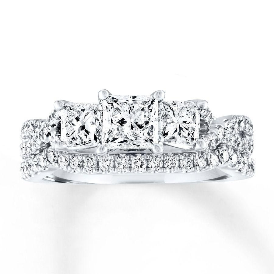 1b5e93b8e ... your trusted Jewelry Store. Kay - Diamond Bridal Set 1-7/8 cts tw  Princess-cut 14K White Gold