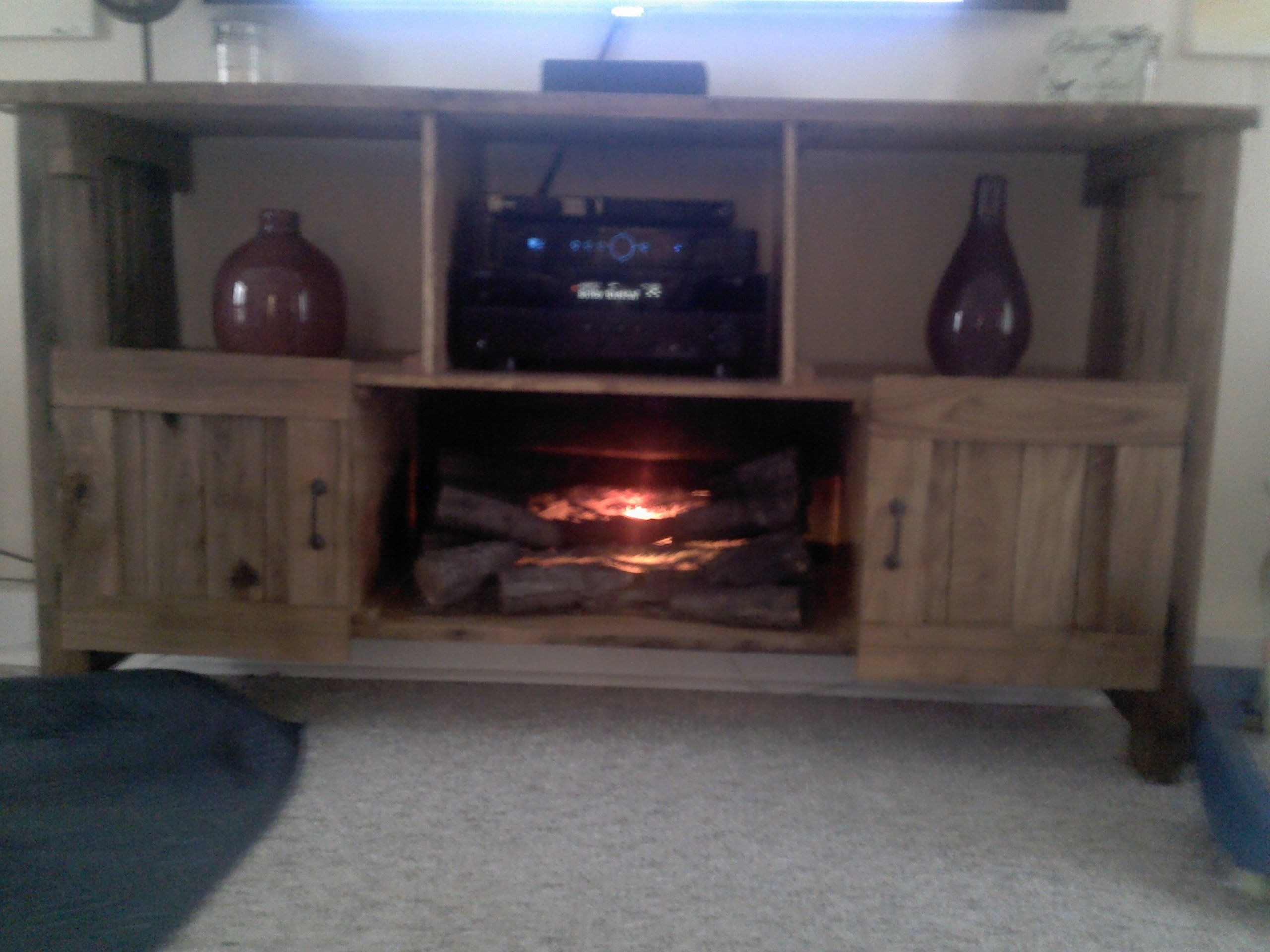 entertainment center made from pallets