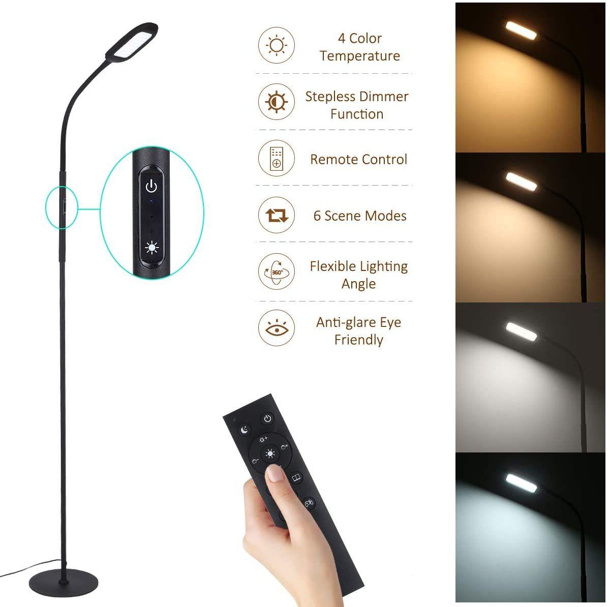 Tomshine Touch LED Floor Lamp in 2020 Standing lamp, Led