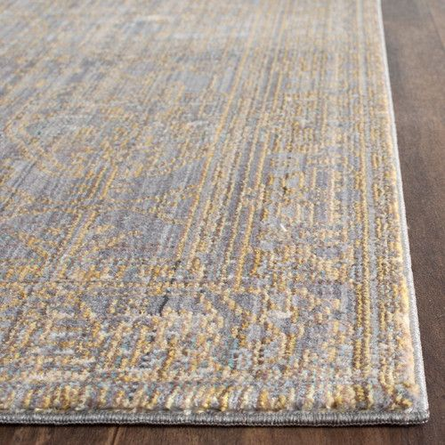 Menton Gray Gold Area Rug With Images Area Rugs Grey Area Rug