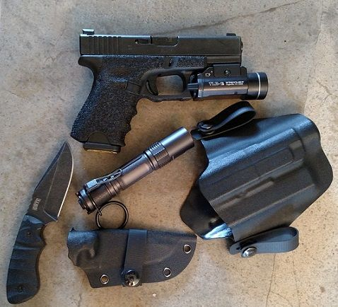 Stippled Glock 19,Boker Coye Ridgeback, Klarus XT2C Light. | Every Day  Carry | Pinterest | Stippling, Survival Gear And Survival