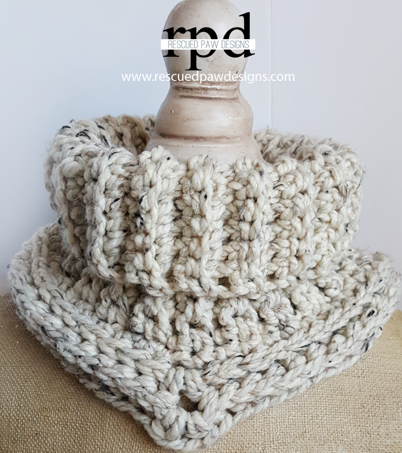 Easy Crochet Cowl Pattern - Textured Crochet Cowl | Tejido ...