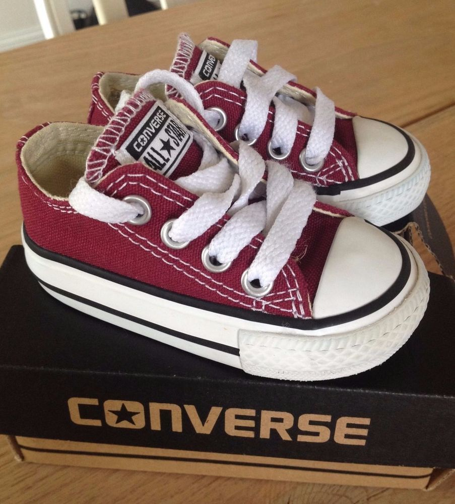ccb2fa12b33689 toddler converse chuck taylor all star maroon low top size 3 from  9.99