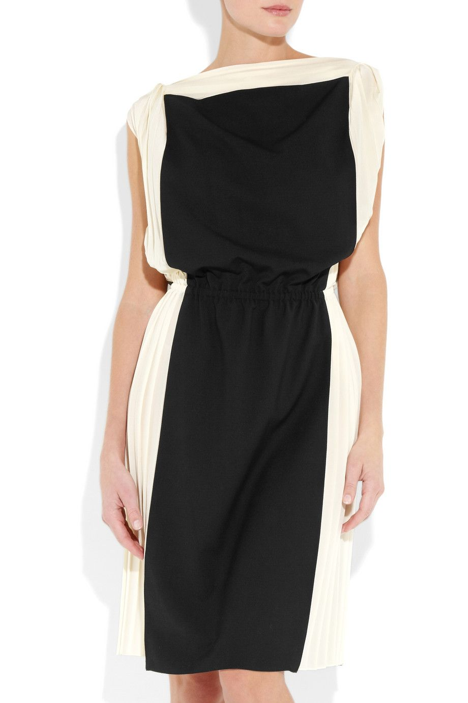 Stretch-wool and silk-chiffon dress $2,350 Vionnet Net-a-Porter
