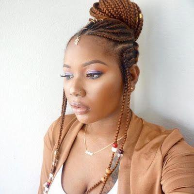 +26 Fulani braided hairstyle For Black Hair for the weekend #fulani #braided #bride #hair #hairstyles #haircolor #blackhair #braidedhairstylesart