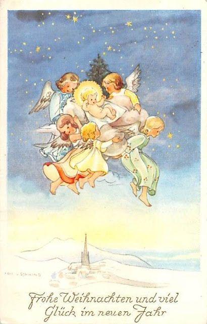 Cartoline Ch Calendario.Ch Schwind Illustration C H V Schwind Christmas Cards