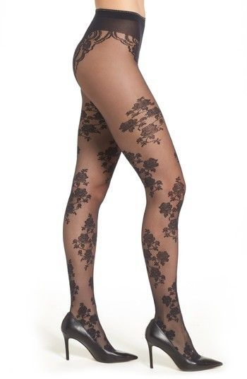 3fa93eb6b829e Oroblu Stephany Tights | ideal.18 in 2019 | Lace tights, Stocking ...