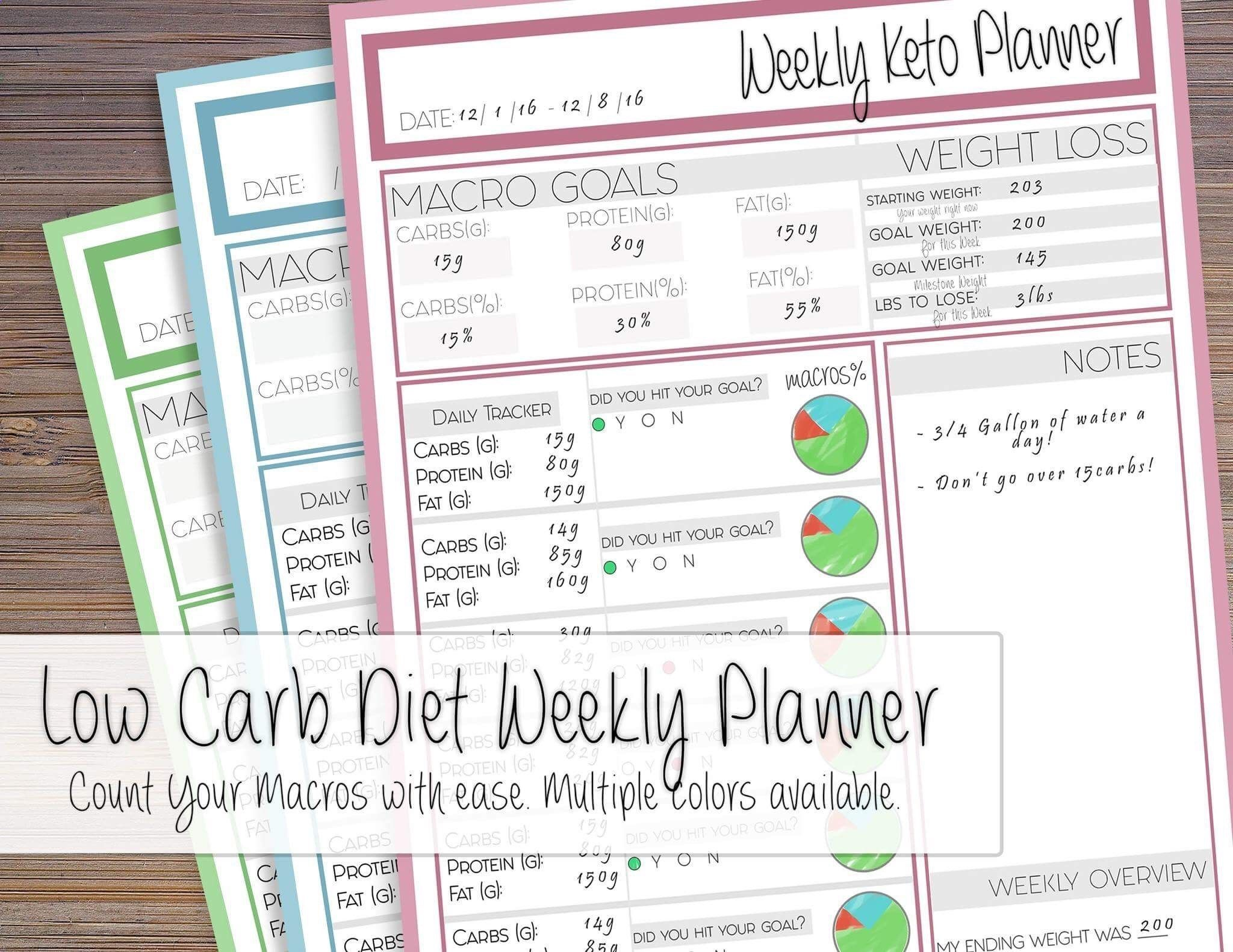the e factor diet low carb planner keto weight loss tracker low