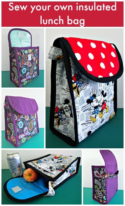 b0923bb90e Make your own insulated lunch bags with your favorite fabrics. Includes  make your own laminated