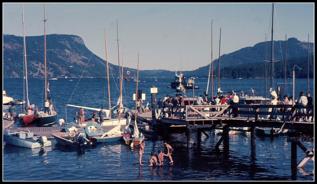 Summer in Maple Bay by Mark Faviell.  Maple Bay has a natural harbour and is a beautiful place to live.