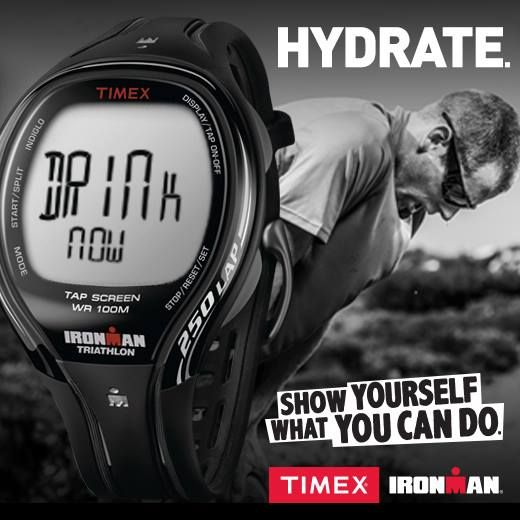 BEAT THE HEAT TIP Did you know the #Timex Ironman Sleek 250-Lap with Tapscreen has a hydration alarm to remind you to refuel at regular intervals?