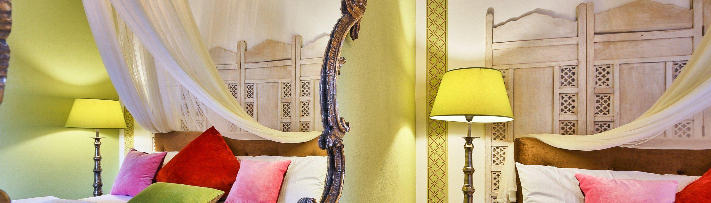 Inneneinrichtung Zimmer Villa Waldfrieden Bio und