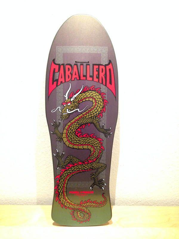 Powell Peralta Caballero Dragon, colour-changing dip green/purple, yellow dragon, reissue